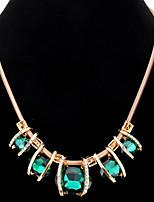 Femme Pendentif de collier Colliers chaînes Strass Imitation de diamant Forme Ovale Strass Verre AlliageBasique Original Pendant Stras