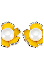 Women's Stud Earrings Bohemian Arylic Alloy Flower Jewelry Party Daily Casual Stage 1 pair