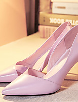 Women's Heels Leather Spring Summer Stiletto Heel White Black Blushing Pink 2in-2 3/4in