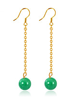 Fashion Gold Malay Jade Drop Earrings Vintage Jewelry For Party Engagement Gift