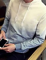 Sweat à capuche Homme Contemporain Couleur Pleine Micro-élastique Coton Polyester Manches longues Automne