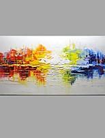 Ручная роспись Абстракция Горизонтальная,Modern Классика 1 панель Холст Hang-роспись маслом For Украшение дома