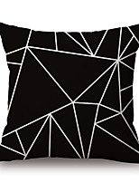 1 Pcs Black Color Irregular Geometry Pillow Case 45*45Cm Sofa Cushion Cover Creative Pillow Cover