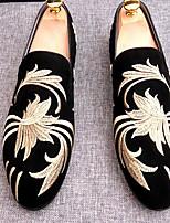 Для мужчин Мокасины и Свитер Удобная обувь Полиуретан Весна Повседневный Черный Темно-синий Коричневый На плоской подошве