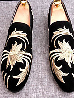 Men's Loafers & Slip-Ons Comfort PU Spring Casual Brown Dark Blue Black Flat
