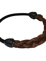 2 Pieces Twist Braid Hair Tie Plastic Hair Ponytail Hair Tools Bright Brown
