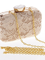 Women Evening Bag Polyester All Seasons Wedding Event/Party Formal Party & Evening Club Rectangle Lace Clasp Lock Apricot Black White