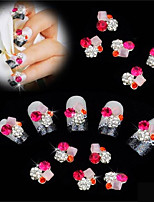 10 pcs Flat Bottom DIY Nail Sticking Drill 3D Nail Decoration