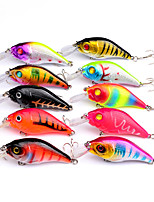 HiUmi 10 pcs 7.5cm 10.2g Crankbait Fishing lure Hard Wobbler Lure Iscas Artificiais Para Pesca Carp Fishing Tackle