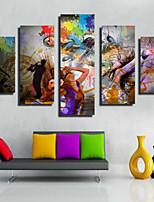 Художественная печать Современный,5 панелей Горизонтальная С картинкой Декор стены For Украшение дома