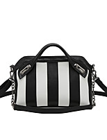 Women Tote PU All Seasons Formal Casual Event/Party Wedding Office & Career Shell Zipper Black/White