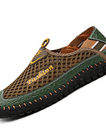 Men's Athletic Shoes Comfort PU Summer Outdoor Comfort Flat Heel Brown Green Blue Under 1in
