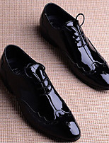 Men's Oxfords Comfort PU Patent Leather Spring Casual Comfort Black Flat