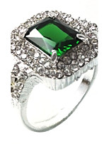 Men's Ring Emerald Unique Design Fashion Euramerican Emerald Alloy Jewelry Jewelry For Wedding Special Occasion Anniversary