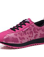 Women's Sneakers Microfibre Spring Fall Flat Heel Gray Fuchsia Blue Flat