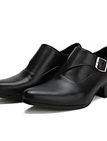 Men's Wedding Shoes Comfort Cowhide Nappa Leather Spring Wedding Comfort Black White Flat