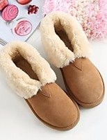 Women's Boots Comfort PU Suede Spring Winter Casual Comfort Camel Blushing Pink Gray Flat