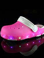 Girls' Sandals PVC Summer Fall LED Flat Heel Navy Blue Blushing Pink Light Blue Flat