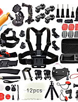 QQT for 50 in 1 Go Pro Accessories Kit Set stick Monopod Swim Bobber Chest Strap for Gopro Hero 5 4 3  2 xiaomi yi SJCAM SJ4000 action camera