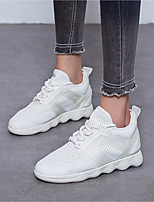 Women's Athletic Shoes Comfort Fabric Spring Summer Outdoor Athletic Casual Flat Heel Black White 1in-1 3/4in