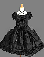 One-Piece/Dress Gothic Lolita Lolita Cosplay Lolita Dress Vintage Short Sleeve Short / Mini Dress For