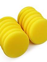ZIQIAO 12 pcs/set Car Wax Sponge Automobile Cleaning Tool Car Care Yellow Anti-Scratch Applicator Pads Tyre Dressing Foam