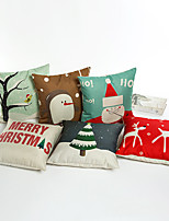 1 Pcs 45cm*45cm Nordic wind cartoon Christmas series  pillow case