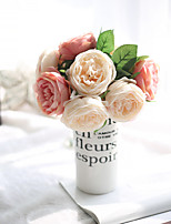 Simulation Flower Bouquets Of Roses For Export Of Foreign Trade Wedding Home Decoration
