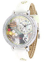 Mujer Reloj de Moda Cuarzo Piel Banda Blanco Verde