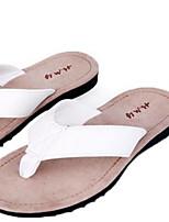 Damen Slippers & Flip-Flops Komfort PU Sommer Normal Komfort Weiß Schwarz Flach