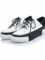 Da donna Sneakers Comoda Di pelle PU (Poliuretano) Primavera Casual Bianco Nero Piatto