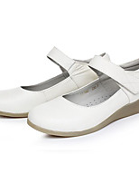 Women's Sneakers Comfort Cowhide Spring Casual White Flat