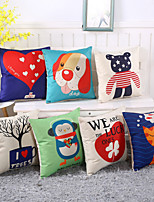 8 Style Cartoon Animal Cotton/Linen Pillow Cover Home & Garden Pillow Case