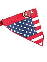 Dog Cat Bandanas US Collar American Flag Bowknot