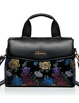 Women Tote PU All Seasons Formal Casual Event/Party Wedding Office & Career Weekend Bag Zipper Black