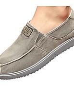 Для мужчин Мокасины и Свитер Удобная обувь Полотно Весна Повседневный Серый Морской синий Цвет экрана На плоской подошве