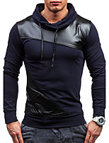 Men's Daily Sports Sweatshirt Solid Stand strenchy Cotton Cotton Blend Long Sleeve Spring Fall Winter