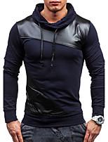 Sweatshirt Homme Quotidien Sports Couleur Pleine Mao strenchy Coton Mélange de Coton Manches longues Printemps Automne Hiver