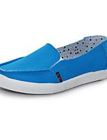 Для женщин Мокасины и Свитер Удобная обувь Полотно Весна Повседневные Удобная обувь Лиловый Пурпурный Тёмно-синий На плоской подошве