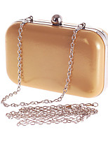 Women Evening Bag Polyester All Seasons Formal Event/Party Wedding Baguette Clasp Lock Silver Black Gold