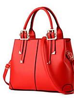 Women Shoulder Bag PU Summer Winter Casual Rectangle Zipper Red Light Blue Wine Fuchsia Yellow
