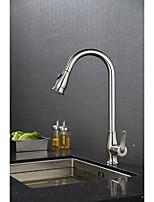 ContemporaryCeramic ValveBrushed , Kitchen faucet