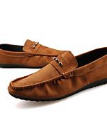 Для мужчин Топ-сайдеры Удобная обувь Тюль Полиуретан Весна Повседневный Черный Морской синий Темно-коричневый На плоской подошве