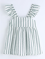 Girls' Striped Blouse,Cotton Summer Sleeveless