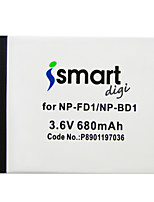 Ismartdigi FD1 3.6v 680mAh Camera Battery for Sony BD1 T90 900 70 700 500 200 77 100 2 20 TX1 HX5C WX1 WX10 HX7 HX10 G3