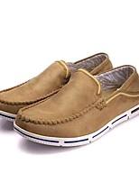 Для мужчин Мокасины и Свитер Удобная обувь Светодиодные подошвы Ткань Микроволокно Весна Осень Для офиса Повседневный Для прогулокНа
