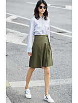 AMIIWomen's Casual/Daily Knee-length Skirts Bodycon Slim Solid Striped Summer