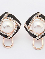 Bohemian Elegant Luxury  Rhinestone Pearl Flowers Earrings Women's Party Movie Jewelry