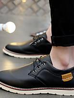 Для мужчин Туфли на шнуровке Удобная обувь Натуральная кожа Весна Повседневные Удобная обувь Черный Синий Темно-русый На плоской подошве