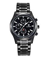 Homens Relógio Esportivo Relógio de Moda Quartzo Calendário Impermeável Lega Banda Preta Prata